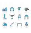 horse racing and gambling icons vector image