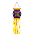 lantern candle hanging vector image vector image