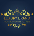 luxury brand gold logo template vintage design vec vector image
