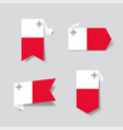 maltese flag stickers and labels vector image vector image
