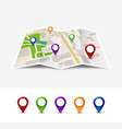 map gps pin icon road travel home city vector image vector image