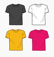 Men T-shirt template vector image