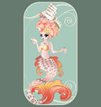 mermaid with rococo hair vector image vector image