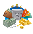 money and wealth vector image vector image
