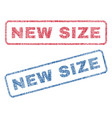 new size textile stamps vector image vector image