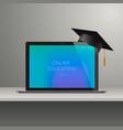 online learning webinar online education vector image vector image