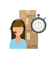 Operator woman icon Delivery and Shipping design vector image vector image