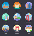 pack of world cities 10 vector image