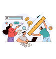 people woman man characters colleague development vector image