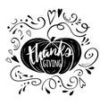 print thanksgiving decorated pumpkin vector image vector image