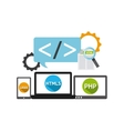 programming language design vector image vector image