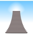 Realistic stone ladder vector image