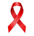 red ribbon aids awareness stock vector image