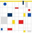retro geometric bauhaus swiss memphis cover vector image vector image
