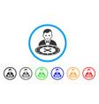 roulette dealer icon vector image