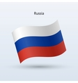 Russia flag waving form vector image