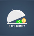 save money with open dish vector image vector image