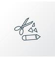 scrapbooking icon line symbol premium quality vector image