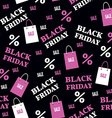Seamless Pattern with Black Friday Sale Baclground vector image vector image