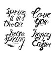 set of spring lettering badge and card for vector image