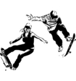 skaters design vector image vector image