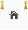 Small house flat icon vector image vector image