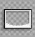 snowfalls on black and white frame vector image vector image
