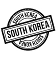 South Korea rubber stamp vector image