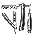 straight razor set of three styles objects vector image vector image