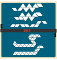 Stylized Snake symbol 2013 new year vector image