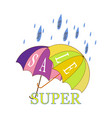 super sale and rain discount vector image vector image