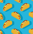 Taco seamless pattern Traditional Mexican food vector image