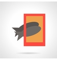 Taking fish photo flat simple icon vector image vector image