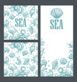 template for greeting card and seamless pattern vector image vector image
