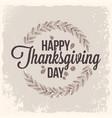 thanksgiving vintage card design background vector image vector image