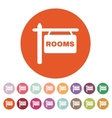 The rooms icon Hotel symbol Flat vector image vector image
