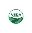 usda organic certified stamp symbol no gmo vector image