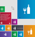 Wine Icon sign buttons Modern interface website vector image vector image