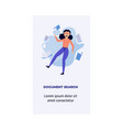 woman information document search concept vector image vector image