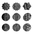 wooden stamps overlay vector image