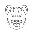 tiger line icon sign on vector image