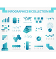 infographics collection blue timeline vector image