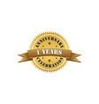 1 years anniversary gold logo vector image