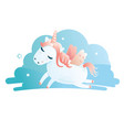 a cute unicorn vector image