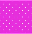 abstract seamless white polka dots on neon pink vector image vector image