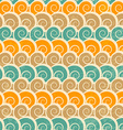 Abstract spiral beach seamless pattern with grunge