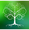 abstract white tree on green blurred background vector image vector image