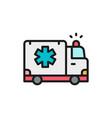 ambulance car emergency medical truck flat color