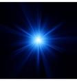 Blue color design with a burst EPS 10 vector image