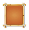 brown bamboo frame with vintage paper vector image